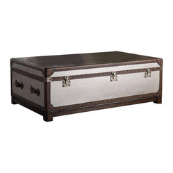 Hooker Furniture - Bondurant Cocktail Trunk - If you could have one majestic piece in your space, this cocktail trunk might be it. Two deep drawers store books, magazines or sofa throws. The leather and nailhead trim bring a rustic touch to a luxurious trunk.