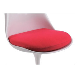 "Knoll - Replacement Seat Cushion for Tulip Chair - In any design problem, one should seek the solution in terms of the next largest thing, designer Eero Saarinen once said. ""If the problem is a chair, then its solution must be found in the way it relates to the room."" One glance at the ultra-modern Tulip Chair and you'll instantly think of a place in your home for it. This replacement cushion instantly changes the look of the chair and its surroundings. FEATURES AT A GLANCE 