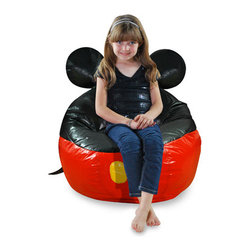 Junior Mickey Mouse Bean Bag Cover - I love this classic Mickey bean bag cover. It's just a fun twist on a kids' room staple.