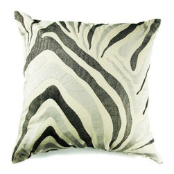 Design Accents Zebra Pillow - 22L x 22W in. - The unique design of the Design Accents Zebra Pillow - 22L x 22W in. certainly makes it a horse of a different color Made of soft, durable cotton , this hand-embroidered pillow features a modern style. This zebra design is available in a variety of colors so you can mix and match for the perfect look.