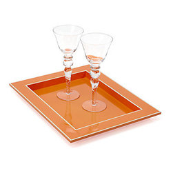 Z Gallerie - Gelato Tray, Mango - A mango tray is the perfect accessory to serve your cocktails on.