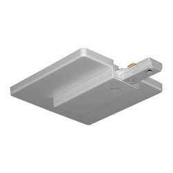 Juno Lighting - Juno T21 Trac-Master One-Circuit End Feed Connector and Outlet Box Cover, T21sl - Trac-Master One-Circuit End Feed Connector and Outlet Box Cover. For outlet box feed.