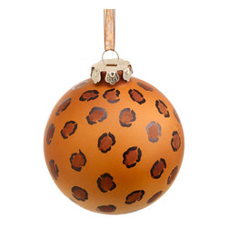 Silk Plants Direct - Silk Plants Direct Glass Leopard Print Ball Ornaments, Set of 12 - Pack of 12. Silk Plants Direct specializes in manufacturing, design and supply of the most life-like, premium quality artificial plants, trees, flowers, arrangements, topiaries and containers for home, office and commercial use. Our Glass Leopard Print Ball Ornament includes the following:
