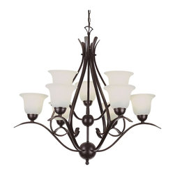 Trans Globe Lighting - Trans Globe Lighting PL-9289 ROB ES Ribbon Branched 2 Tier Chandelier In BronzeE - Simply elegant indoor lighting collection perfect for coastal dEcor themes with seagull wing chandelier supports. Matching pendant styles. Energy saving fixture uses GU-24 bulbs.