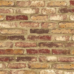 Wallquest - Tuscany Faux Brick Wallpaper , Burgundy and Taupe, Double Roll - This is classic, old brick wallpaper with a smooth finish. Great for accent walls with an old-style European look. Roll Width: 20.50 In. Roll Length: 16.50 Ft. Repeat Length: 27.00 In. Finish: Vinyl Coated Match: Drop Match Paper Attributes: Pre-Pasted - Strippable - Washable Note: The price of $55.95 includes two single rolls @$27.99 each. Wallpaper is only shipped as a double roll. Paper sourced from renewable resource forests. Printed using environmentally-friendly water based inks. Made in the USA. Printed on Acrylic-Coated Paper (Prepasted)