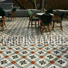 Eclectic Patio by Karoistanbul Encaustic Cement Tile