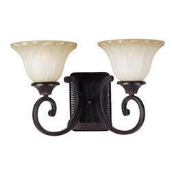 Maxim Lighting - Maxim Lighting Allentown Traditional Wall Sconce X-IOSW21531 - Decorate with a timeless piece, such as with this Maxim Lighting Allentown Traditional Wall Sconce. It has a frame in an oil rubbed bronze finish with two gently scrolled arms that support sculptured, Wilshire glass shades. It's a lovely piece that can be mounted up or down, and one that will cast a warm hue of light in any room.