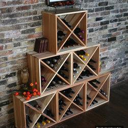 Wine Rack 144 Bottle Cube Set (6 Cubes) - Arrange and stack however you like