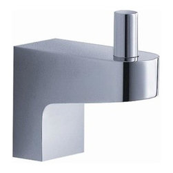 Fresca - Generoso Robe Hook in Triple Chrome Finish - Made with heavy duty brass. Triple chrome finish. 1-Year warranty on parts. 1 in. W x 2 in. D x 2 in. HAll of our Fresca bathroom accessories are made with brass with a triple chrome finish and have been chosen to compliment our other line of products including our vanities, faucets, shower panels and toilets. They are imported and selected for their modern, cutting edge designs.