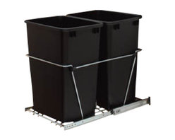 """Rev-A-Shelf - Rev-A-Shelf RV-18KD-17C S Double 35 Qt. Pullout Waste Container, Black - The Double 35 Quart Black Pullout Waste Container is one of the most popular products purchased for kitchen organization, and is regarded as best in the industry. This unit includes (2) 35 quart black colored polymer waste containers, 100lb rated full-extension ball-bearing slides, a removable handle, and hardware and instructions. This amazingly durable pullout waste unit features a heavy duty frame construction that is built to last. In addition, the easy bottom mount installation process only takes 4 screws! If you've been thinking about getting rid of that old, unsightly stand alone garbage can, and upgrading to a pullout waste unit for your garbage and recycling needs, do yourself a favor and check out the Rev-A-Shelf RV-18KD-18C S. You won't regret it! Physical specifications: 14-3/8"""" W x 22"""" D x 19-1/4"""" H. Please make sure your cabinet has a minimum opening of at least 14-1/2"""" W x 22-1/8"""" D x 19-3/8"""" H to ensure a proper fit."""
