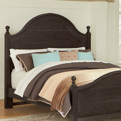 Virginia House - Coco Poster Bed - Elegantly styled with gentle arches and subtle wood-worked details, this finely-crafted bed offers night after night of restful sleep while enhancing the décor with countryside-chic style.   Mattress and bedding not included Wood / cherry veneer Made in the USA