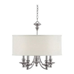 """Midtown Collection Polished Nickel 25"""" Wide Chandelier -"""