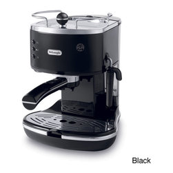 DeLonghi - Delonghi Icona Espresso Maker - Use this sleek,stylish espresso maker to make your favorite beverage quickly and easily with no start-up preparation. The drip tray is easy to clean and features a built-in tamper for your convenience.
