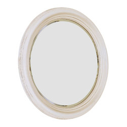 American Drew - American Drew Camden-Light Round Mirror in White Painted - Round Mirror in White Painted belongs to Camden-Light collection by American Drew The Camden-Light collection melds simple forms with quiet traditional references, gentle curves and a beautiful time worn ivory finish that lets the character of the wood show through. The brushed nickel finish hardware adds even more character to the Camden collection. This line will work great in your renovated farm house or a smaller beach cottage get-away.