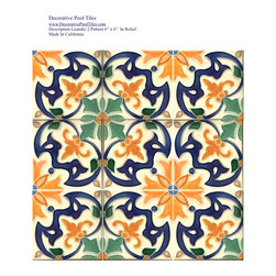 "Products - Leandre Pattern Tile 6"" x 6"" Mediterranean/Spanish Revival Pattern"