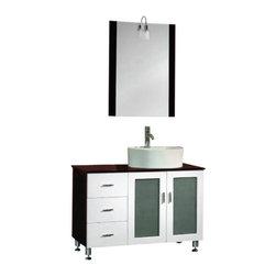 Buy Save Bella Sp 48 White Bathroom Vanity And Mirror 1750 1499