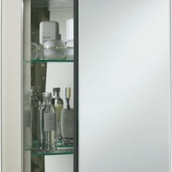 Kohler Single-Door 20-Inch Aluminum Cabinet With Vintage Mirrored Door - Kind of like a sofa bed being a given in the living room, I think a medicine cabinet is a given in the bathroom for small city apartments. When space is limited, why would you not use one?