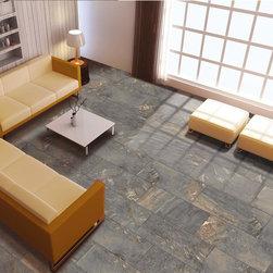 Florim Jewel, Modern Slate Tile - Florim flooring, Jewel Series, Color Grigio