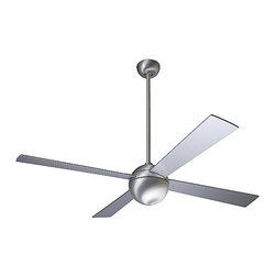 Ball Ceiling Fan with Optional Light | Lumens - This modern fan looks great as-is, but I love that you can also add a light to the center ball shape to make it doubly functional.