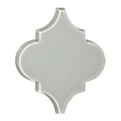 Glass Tile Arabesque 11 Colors, Foggy Meadow, Sample - Sample One Arabesque Tile
