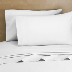 Royale Home 200 Thread Count Cotton-Rich Sheet Set, White - Bring your own sheets to your summer rental. All white is best.