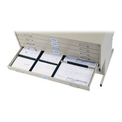 "Safco - Drawer Dividers - Customize and organize your file drawers. Drawer dividers for 5-Drawer Flat Files provide easy separation of materials. Dividers are self-sticking black 11"" plastic sections that can easily be cut to accommodate your needs.; Features: Material: Plastic; Finished Product Weight: 0.1 lbs.; Assembly Required: No; Limited Lifetime Warranty; Dimensions: 11""W x 1""D x 1 1/2""H"