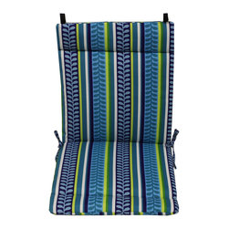 Blazing Needles - Blazing Needles Floral Outdoor Seat/Back Chair/Rocker Cushion - Add a touch of comfort and style to your outdoor home furnishings with this chair/rocker cushion with ties. This seat/back cushion features five beautiful variations that ensure the utmost in quality and durability.
