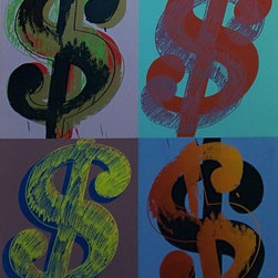 Hand Signed $ (Quadrant) FS II.283 By Andy Warhol Popart Pop Art - ANDY WARHOL RARE FABULOUS BEAUTIFUL SCREENPRINT ON LENOX MUSEUM BOARD. Unique screenprint on Lenox Museum Board. Hand signed and numbered in pencil. Printed by Rupert Jasen Smith, New York. Artwork is in excellent condition. Certificate of Authenticity included.