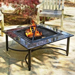 34-Inch Square Marble Fire Table - The evening chill will never again end your beautiful evening. This 34-Inch Square Marble Fire Table makes a gorgeous centerpiece for your patio even before you light the fire. The 23-inch fire bowl is surrounded by a shelf of gleaming black marble that will never stain pit or fade. The included mesh cover protects you from sparks and pops yet it's nearly invisible when the fire is ablaze. The log grate and lifting tool offer convenience and a strong furniture-style steel frame is coated with hi-temp finish for years of stylish beauty. About Asia Direct Inc.Known as a primary manufacturer of quality outdoor fire pit products Asia Direct Inc. began business in 2000. Asia Direct offers a wide variety of value-focused services including: classic quality design on-time delivery 1-year warranty and full container and drop ship programs. Products include: traditional fire pits stone fire tables portable fire pits and cast iron fire pits. Providing customers with value-driven superior outdoor products is central to the ongoing aspiration and progression of Asia Direct.