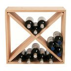Wine Enthusiast - Wine Enthusiast 24-Bottle Compact Cellar Cube Wine Rack - Here's a rustic, simple and attractive way to store your bottles of wine. This hand-cut and hand-sanded ecofriendly wine rack is a classic that can hold up to 24 bottles, and the cubed shape makes it perfect for stacking. Choose from light or dark finish.