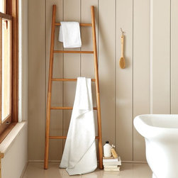 Bamboo Ladder - This clever ladder is completely made from bamboo. I love how chic these look in a master bath.