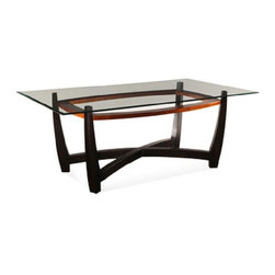 Bassett Mirror - Elation Rectangular Glass Top Dining Table - D1078-600 - Rectangle Dining Base