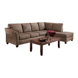 Chelsea Home Furniture - Chelsea Home Broome 2-Piece Sectional in Glacier Dark Brown - Broome 2-Piece Sectional in Glacier dark brown belongs to the Chelsea Home Furniture collection