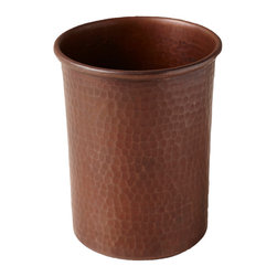 Native Trails - Copper Toothbrush Holder - Go green! Well, actually, copper. You'll feel good knowing that this toothbrush holder is an eco-friendly choice for your bathroom. It's made of 100% recycled copper that's been hammered by hand.