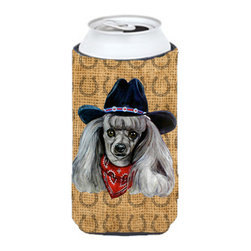 Caroline's Treasures - Poodle Dog Country Lucky Horseshoe Tall Boy Koozie Hugger - Poodle Dog Country Lucky Horseshoe Tall Boy Koozie Hugger Fits 22 oz. to 24 oz. cans or pint bottles. Great collapsible koozie for Energy Drinks or large Iced Tea beverages. Great to keep track of your beverage and add a bit of flair to a gathering. Match with one of the insulated coolers or coasters for a nice gift pack. Wash the hugger in your dishwasher or clothes washer. Design will not come off.
