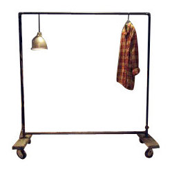Large Plain Jane Industrial Pipe Garment Rack