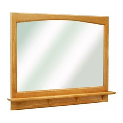 DHI-Corp - Richland Nutmeg Oak 38-Inch Mirror with Shelf - The Design House 530543 Richland Nutmeg Oak 38-Inch Mirror features a nutmeg oak finish with a water resistant seal. This product has a rustic shabby chic design, meshing modern construction with vintage aesthetics. With a solid wood frame and shelf, this mirror measures 38-inches by 4-inches by 31-inches and is built to withstand years of repeated use. With a country living motif, this mirror graces your home with its bright finish and clean lines. This product is perfect for remodeling your bathroom and matches painted cabinets and granite counter tops. This mirror will not chip or stain in steamy bathrooms. This product is CARB compliant, which means it adheres to the toughest production standards in the world for formaldehyde emissions (in wood composite paneling). Use this mirror for shaving or applying makeup in the morning. The Design House 530543 Richland Nutmeg Oak 38-Inch Mirror has a 1-year limited warranty that protects against defects in materials and workmanship. Design House offers products in multiple home decor categories including lighting, ceiling fans, hardware and plumbing products. With years of hands-on experience, Design House understands every aspect of the home decor industry, and devotes itself to providing quality products across the home decor spectrum. Providing value to their customers, Design House uses industry leading merchandising solutions and innovative programs. Design House is committed to providing high quality products for your home improvement projects.