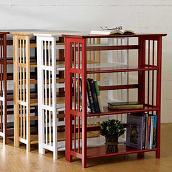 Improvements - Mantel for 3-Tier Folding Bookcase - Use this folding bookshelf to organize books, games, craft supplies and more. Folding bookcase collapses easily for storage or moving. Mantel top (sold separately) adds a finished look to the 3-Tier Folding Bookshelf. Classic 3-Tier Bookcase is foldable and stackable. With its airy, spindle-side design, this smart wood bookcase will look right at home in any room. The 3 roomy shelves will hold a variety of books, or you can use this folding bookshelf to organize board games, display collectibles, or hold business binders. The 3-Tier Folding Bookshelf arrives completely assembled; simply fold out the sides and flip down the shelves. You can also stack 2 folding bookcases together to create a 6-tier bookcase. Add a mantel top (sold separately) for a traditional bookcase finish.Benefits of the 3-Tier Folding Bookshelf: