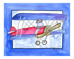 Oh How Cute Kids by Serena Bowman - When Hippos Fly Canvas Wall Decor - Every kid is unique and special in their own way so why shouldn't their wall decor be so as well! With our extensive selection of canvas wall art for kids, from princesses to spaceships and cowboys to travel girls, we'll help you find that perfect piece for your special one.  Or fill the entire room with our imaginative art, every canvas is part of a coordinating series, an easy way to provide a complete and unified look for any room.