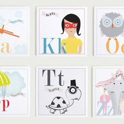 Individual Alphabet Nursery Wall Art Print Set by Modern Pop