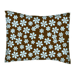 SheetWorld - SheetWorld Twin Pillow Case - Percale Pillow Case - Blue Floral Brown Woven - Twin pillow case. Made of an all cotton flannel fabric. Side Opening. Features the one and only blue floral brown woven!