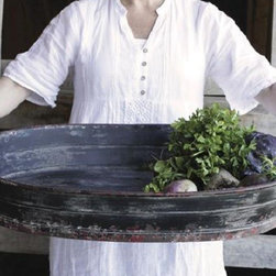 HUGE Metal Tray With Handles - Make a dramatic presentation with our large metal serving tray with handles. Wow your guests at your next dinner party as you carry the main course on this tray or use as a centerpiece on your table filled with seasonal directions. Use it to carry the bounty of your garden inside. Fill with ice and chill drinks at your next party.
