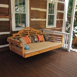 A & L Furniture Western Red Cedar Extra Large 75 in. Marlboro Swing Bed - I just have to have this one! It's large enough to sleep on.