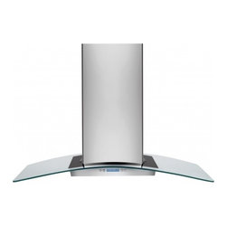 """Electrolux - RH42PC60GS 42"""" Designer Island Chimney Hood With 4 Halogen Lights  600 CFM Inter - The RH42PC60GS 42 island mount chimney range hood comes with a CFM rating of 600 The convertible exhaust system lets you choose to install this range hood with external or recirculating exhaust giving you more flexibility in where you can install you..."""