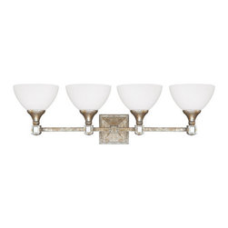 Capital Lighting - Capital Lighting 8474-110 Palazzo 4 Light Vanity Fixture - Capital Lighting 8474-110 Palazzo 4 Light Vanity FixtureWith a beautiful Silver and Gold Leaf finish with Antiqued Mirror accents, this gorgeous four light vanity light will liven up any room with its charmingly classic design.Capital Lighting 8474-110 Features: