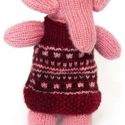 Sitara Collections - Hand-Knitted Elephant Wearing Frock - Who Knew Elephants Looked so Good in a Dress? this Lovely Lass Will Be a Favorite Friend for Years, Thanks to the Exceptiomal Quality Knit into Every Detail by Skilled indian artisans. Comes Complete with a Hand-Knit Frock in Gorgeous Colors Created by all-Natural Dyes. amazingly soft Butter Fabric soft, Squishy Fill Machine washable Set includes: ome (1) Plush Elephant Stuffed toy Materials: Dyed acrylic Wool, Polyester Fiber Fill Stuffing, Thread Embroidery Color: Multicolored Dimensioms: 8.00 inches High X 5.00 inches Wide X 7.00 inches Deep Weight: 0.65 Pounds.