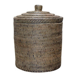 Brilliant Imports - Rattan Basket with Top - The perfect rattan basket for stashing anything you want to keep tidy and out of sight.  Very sturdy with interesting design details on the top making it organically functional AND fabulous!