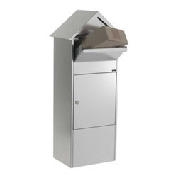 Qualarc, Inc. - Allux 810 Mailbox, Grey - Allux 810 Mail/Parcel Box with peaked roof. Do you need more room? Our parcel mailboxes can easily hold two weeks of mail. Made of strong, galvanized steel and available in grey or black colors. Letter/parcel flap with sof closing mechanism: elegant and silent. Fitted with a ruko lock.