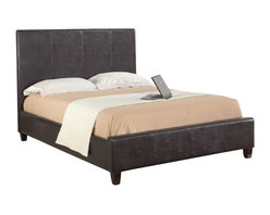 Modus Furniture - Modus Mambo Upholstered Low Profile Panel Bed in Chocolate - California King - Our Upholstered bedroom collection offers a range of luxurious upholstered bed frames and accessories designed to match a wide range of Modus case goods or other contemporary decor. From the sleek, minimalist Mambo beds to our signature lift beds and all-new linen line, we cover an ever-expanding range of silhouettes, features and textures for the contemporary home.