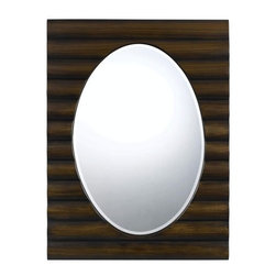 Cal Lighting - Cal Lighting WA-2172MIR Cheyenne Oval Beveled Mirror - Features: